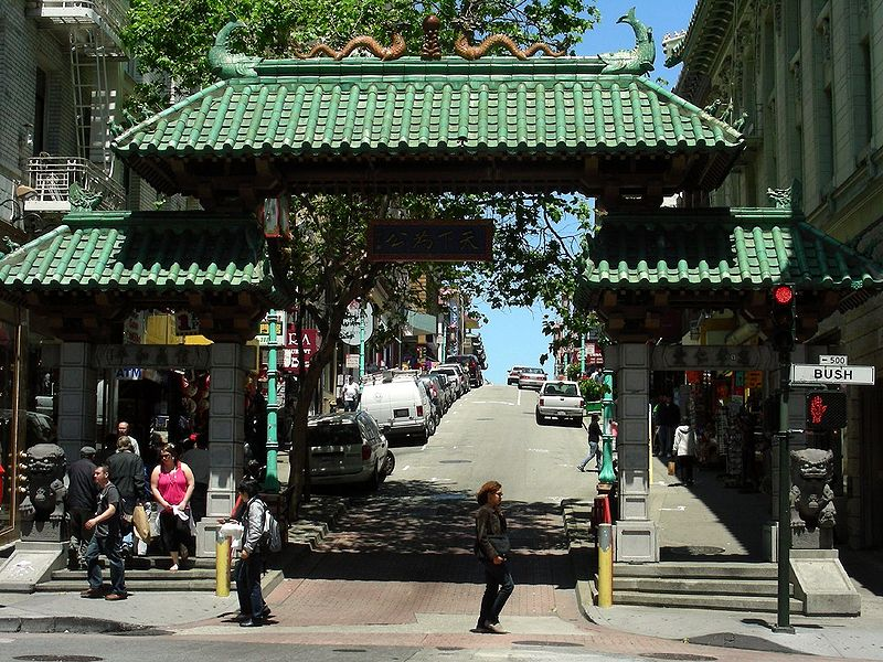 Miss Chinatown San Francisco 2011. The gate to San Francisco's