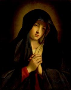 The Madonna in Sorrow Giovanni Battista Salvi (1609-1685)