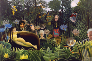 Freinds in the Forest (eCollage by Anu) (c) all rights reserved