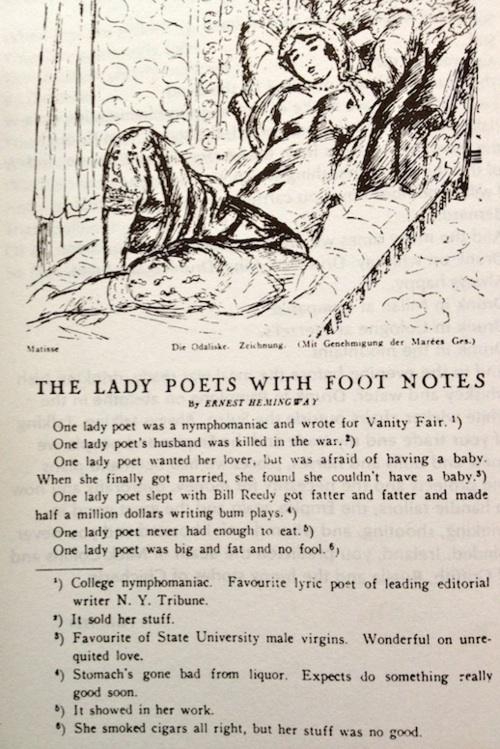 Hemingway Love Poems 5