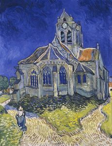 The Church in Auvers-sur-Oise (1890) by Vincent  van Gogh (1853-1890), Dutch post-Impressionist painter
