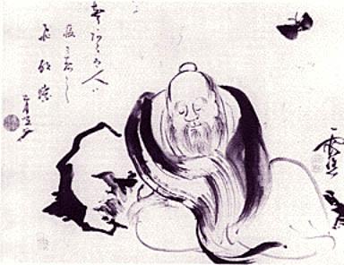 Zhuangzi dreaming a butterlfy, a butterfly dreaming of Zhuangzi