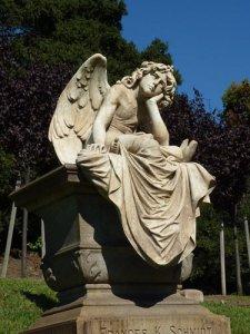sideway pondering angel