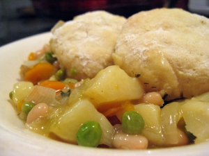 A Vegan Gratitude Day Dinner, Leek and Bean Cassoulet