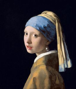 Johannes Vermeer, c. 1665, Oil on canvas, 44.5 cm × 39 cm (17.5 in × 15 in), Mauritshuis, The Hague, Netherlands