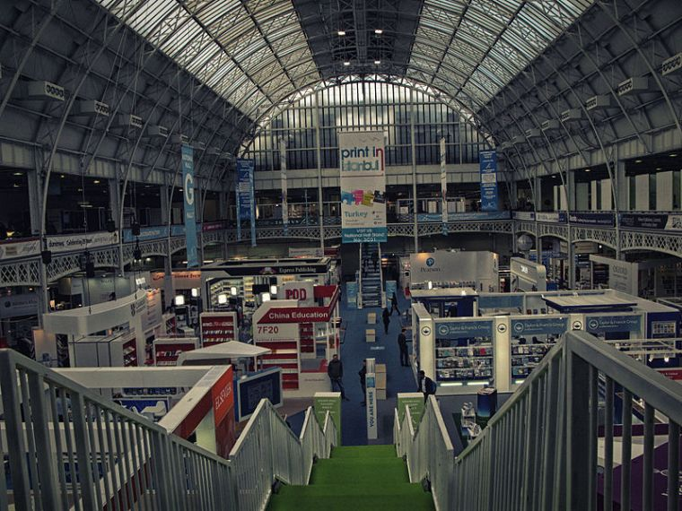 The London Book Fair 2016. Few minutes before opening. Olympia, London UK