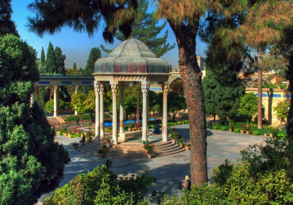 Tomb of Hafez, the popular Iranian poet whose works are regarded as a pinnacle in Persian literature and have left a considerable mark on later Western writers, most notably Goethe, Thoreau, and Emerson