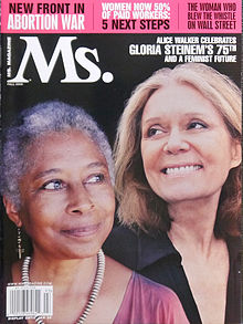 With Gloria Steinem on the Fall 2009 Cover of Ms. magazine