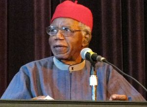 Nigerian poet, novelist, professor and critic, Chinua Achebe (1930-2013)
