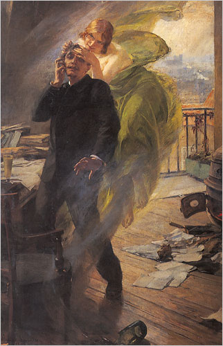 Albert Maignan's Green Muse (1895): a poet succumbs to the Green Fairy.