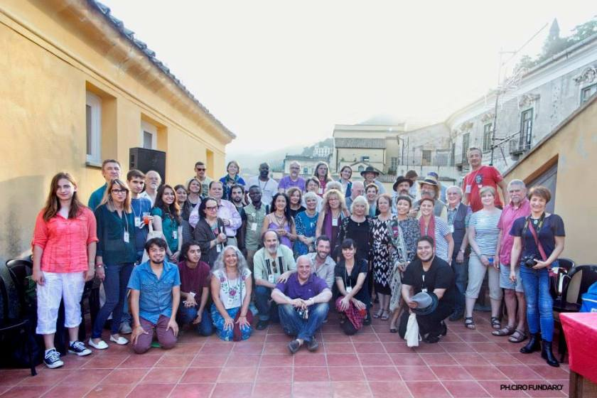 The first night of the 100TPC World Conference in Salerno, Italy in 2015. Over 80 poets from 22 countries and 6 continents came together to share and to plan for the future of 100TPC