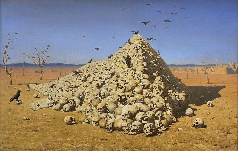"""The Apotheosis of War"" 1871, Vasily Vereshchagin"