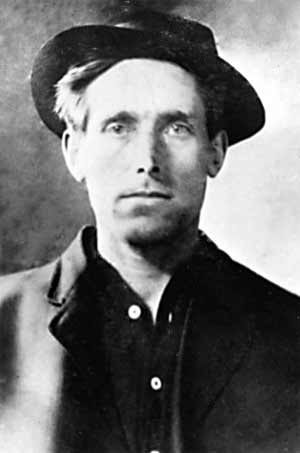 "Joe Hill (1879-1915), born Joel Emmanuel Hägglund, Swedish-American labor activist, song writer, and member of the Industrial Workers of the World (the ""Wobblies"")"