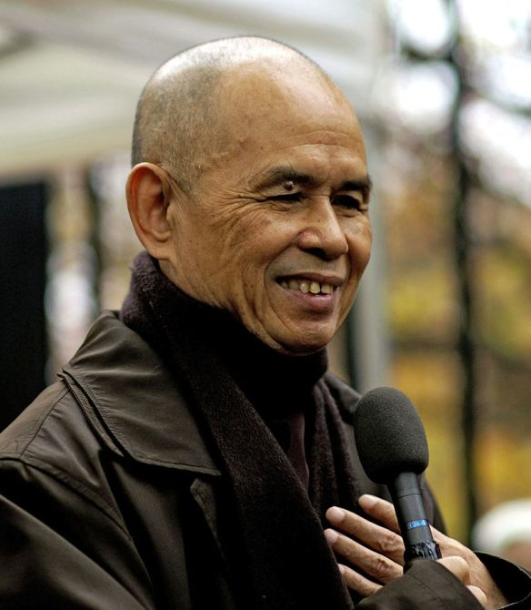"""Thích Nhất Hạnh (Nguyen Xuan Bao) b. October 11, 1926). Vietnamese Buddhist monk and peace activist. He coined the term """"Engaged Buddhism"""""""