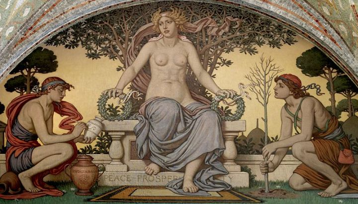 Detail from Peace and Prosperity (1896), Elihu Vedder, Library of Congress Thomas Jefferson Building, Washington, D.C.
