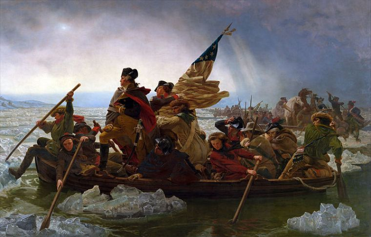 Washington Crossing the Delaware by Emanuel Leutze, MMA-NYC - Public domain photograph